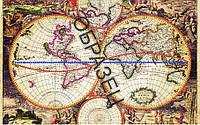Схема для контурной вышивки бисером «Карта»