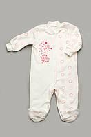 Комбинезон человечек для новорожденных девочек, р. 62-80