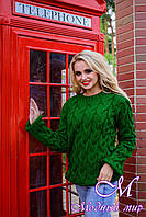 "Женский свитер зеленого цвета ""Лало"" (р. УН. S-М-L) арт. 6912"