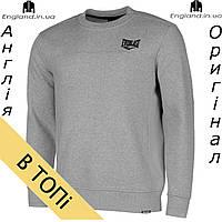Кофта свитшот толстовка Everlast мужская для тренеровок | Кофта світшот Everlast чоловіча сіра