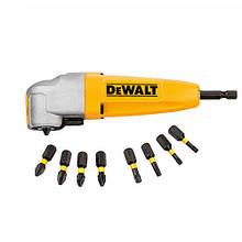 Комплект: насадка угловая для дрелей и шуруповертов + торсионные биты (9 ед.) DeWALT DT71517T (США/Китай)