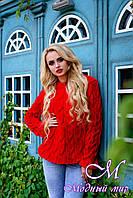 "Женский свитер красного цвета ""Лало"" (р. УН. S-М-L) арт. 6908"