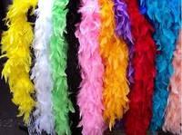 Боа из перьев разные цвета.