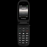 Телефон кнопочный раскладушка на 2 сим карты Prestigio Grace B1 чёрный