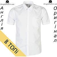 Рубашка мужская Pierre Cardin белая летняя на короткий рукав из Англии