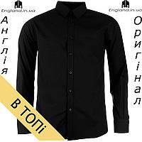 Рубашка мужская черная длинный рукав Pierre Cardin из Англии