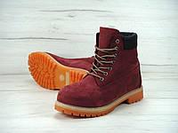 Мужские зимние ботинки Timberland с натуральным мехом (red)