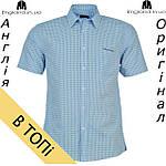 Рубашка мужская Pierre Cardin светло-синяя на короткий рукав , фото 2