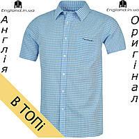 Рубашка мужская Pierre Cardin светло-синяя на короткий рукав 80de7866733ad