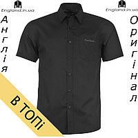 Рубашка мужская Pierre Cardin черная на короткий рукав из Англии