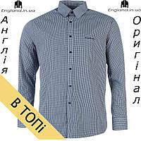 Рубашка мужская Pierre Cardin серая длинный рукав