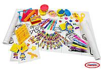 Набор для творчества Play-Doh МЕГАМЕТР маркеры, восковые карандаши, масса для лепки, аксес. (CPDO103)