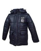 Модная зимняя куртка на овчине для мальчика 4-6лет.Рост 104-122см