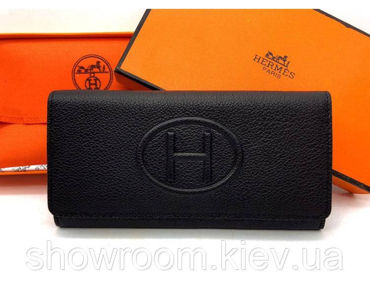 Женский кошелек в стиле Hermes (H-615) black 2616de9db5f
