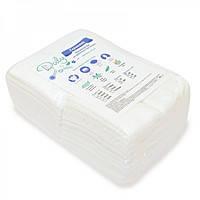 Салфетки влаговпитывающие СПАНЛЕЙС 30х20, гладкие/сетка, 100 шт/уп