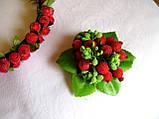 Брошь-заколка с ягодами калины сахарной 40 грн, фото 4