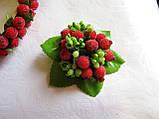 Брошь-заколка с ягодами калины сахарной 40 грн, фото 3