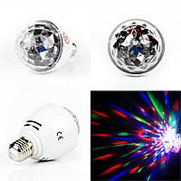 Диско лампа LASER Rotating lampi,вращающаяся светодиодная диско лампа, диско шар для вечеринок
