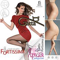 Женские колготы 15 ден. Нервущиеся капроновые тонкие колготки с трусиками Gatta™