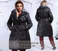 Куртка удлиненная на пуговицах плащевка 48,50,52,54, фото 1