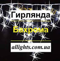 Гирлянда бахрома 5 м на 0,7 м уличная ФАСАДНАЯ наружная ip 68 160 LED, фото 1