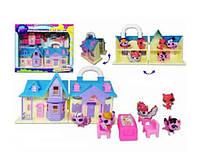 Игровой набор домик Pet Shop (Пет шоп)с героями, мебелью и аксессуарами TM628