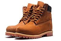 Зимние мужские желтые ботинки Timberland с МЕХОМ