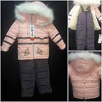 Зимний комбинезон и курточка для девочек, рост 92-110