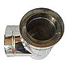 Трійник-сендвіч 87° для димоходу d 110 мм; 0,5 мм; AISI 304; неіржавіюча сталь/неіржавіюча сталь - «Версія-Люкс», фото 3