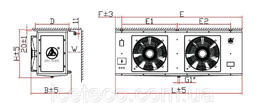 Воздухоохладитель DJ-4.7/30 кубический Gaoxiang