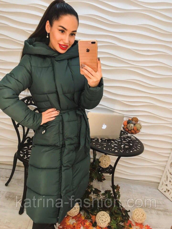 1d648d81000 Женская зимняя удлиненная куртка-пальто  продажа