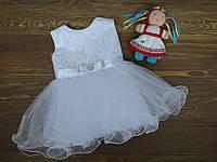 """Праздничное нежное платье """" Жасмин"""" для девочек белое 1-2 года"""