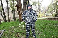 """Зимний костюм ,комбе для охоты и рыбалки """"пиксель Темный"""",повседневного ношения ,- 30  гр ,водоотталкивающий"""