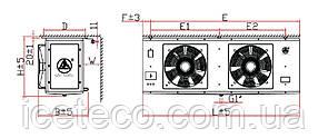 Воздухоохладитель DJ-6.2/40 кубический Gaoxiang