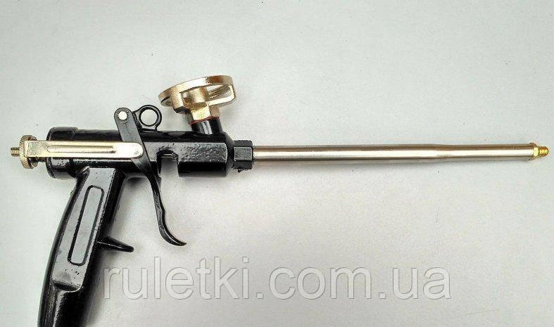 Пистолет для монтажной пены цельнометаллический (метал.регулятор)