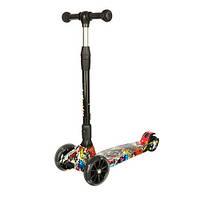 Самокат детский Scooter Smart Itrike Street до 80 кг широкие светящиеся колеса и складывание руля наклоном