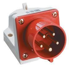 Вилка стационарная 525 32A 220-380B    5 конт  (3P+E+N) P44 Красная
