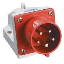 Вилка стаціонарна 525 32A 220-380B 5 конт (3P+E+N) P44 Червона