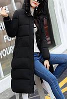 Удлиненное пальто черное, фото 1