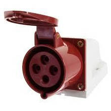 Розетка стаціонарних сис. зовнішня 124 32А 380-415 4 контакту (3P + E) Червоний