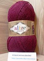 Зимняя пряжа (15%-шерсть, 30%-альпака, 55%-акрил,100 г/250 м) Alize Alpaca Royal 57(бордовый)