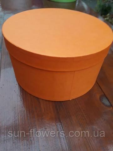 Коробка капелюшна помаранчева(22 діаметр)