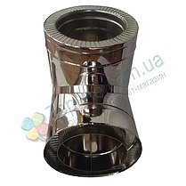 Трійник-сендвіч 87° для димоходу d 160 мм; 0,8 мм; AISI 304; неіржавіюча сталь/неіржавіюча сталь - «Версія-Люкс», фото 3