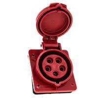 Розетка стацион. внутренняя 425 32A 220-380B    5 конт (3P+E+N) P44 Красная
