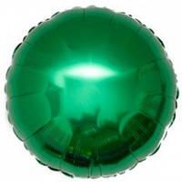 """Шар фольгированный """"Круг зелёный"""". Размер: 45см."""