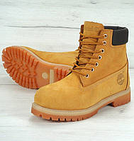 Зимние ботинки Timberland 6 inch yellow с мехом (Реплика ААА+)