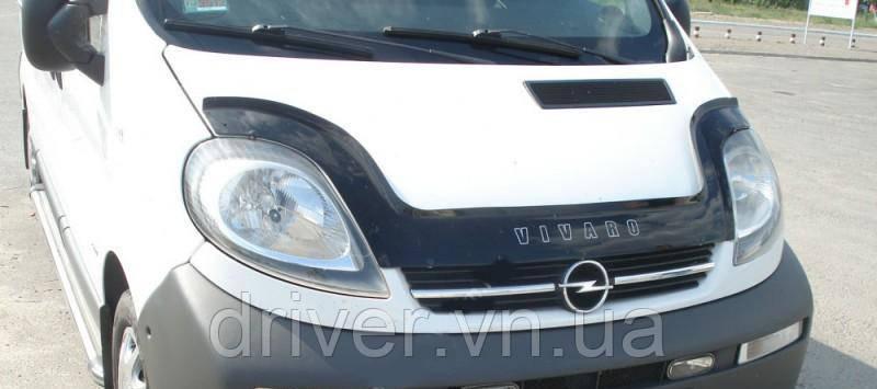 Дефлектор капота (мухобойка) Opel Vivaro 2001-
