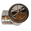 Тройник-сэндвич 87° для дымохода d 130 мм; 1 мм; AISI 304; нержавейка/нержавейка - «Версия Люкс», фото 4