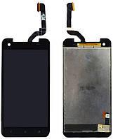 Дисплей (экран) + сенсор (тач скрин) HTC X920d Butterfly black (оригинал)