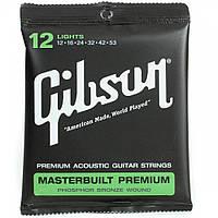 Струны Gibson SAG-MB12 Masterbuilt Premium Phosphor Bronze для акустической гитары